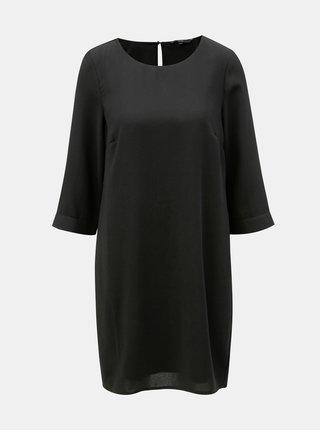 Černé šaty s 3/4 rukávem VERO MODA Gabby
