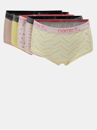 Dievčenské nohavičky v žltej a ružovej farbe Name it
