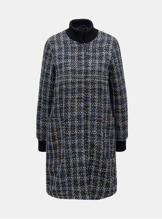 Bílo-modrý vzorovaný lehký kabát Yest