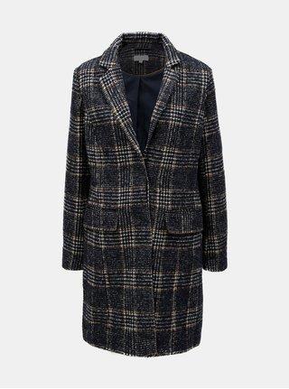 Krémovo–modrý vzorovaný kabát Apricot