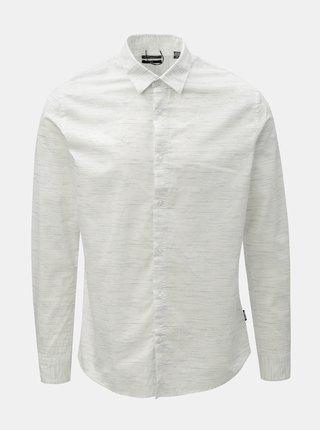 Bílá žíhaná slim fit košile ONLY & SONS Oneill