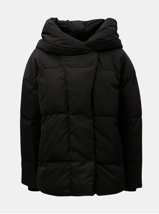 Jacheta neagra matlasata de iarna de puf Noisy May