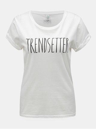 Tricou de dama alb cu imprimeu ZOOT Original Trendsetter