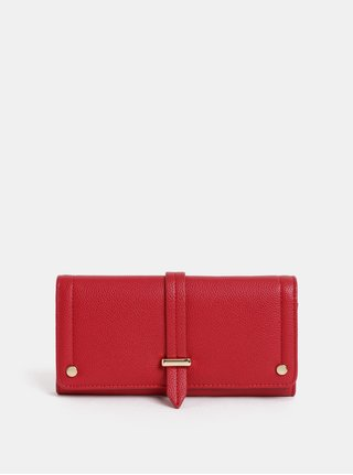 Červená koženková peněženka Dorothy Perkins
