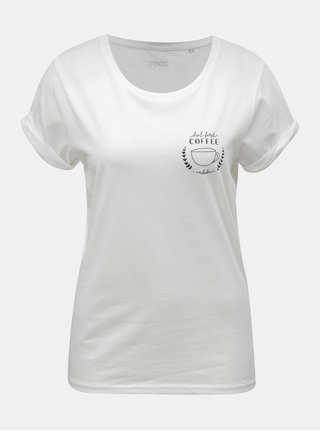 Tricou de dama alb cu motiv cana cu cafea ZOOT Original Coffee