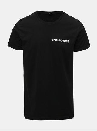 Tricou barbatesc negru cu imprimeu ZOOT Original Follow me
