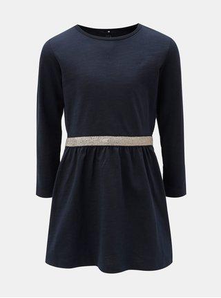Tmavě modré šaty s dlouhým rukávem Name it Valja