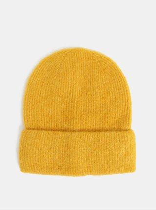Žlutá vlněná čepice Pieces Josefine