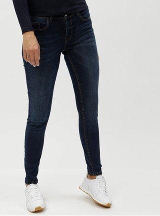 Tmavě modré džíny s vyšisovaným efektem Jacqueline de Yong Filipa