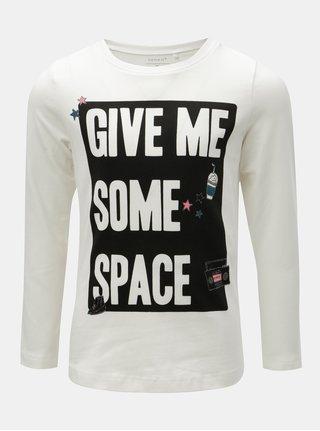 Biele dievčenské tričko s potlačou Name it Rayan