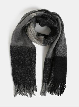 Sivo–čierny šál Pieces Kuma