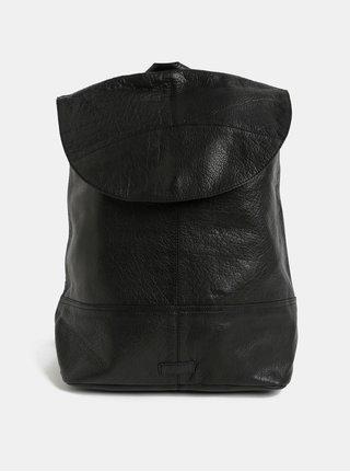 Čierny kožený batoh Pieces Tyra