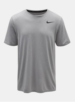 Sivé pánske melírované tričko Nike