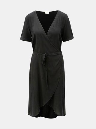 Černé zavinovací šaty Jacqueline de Yong