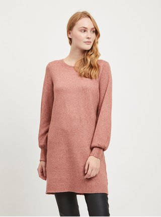 Ružový sveter s prestrihom na chrbte VILA