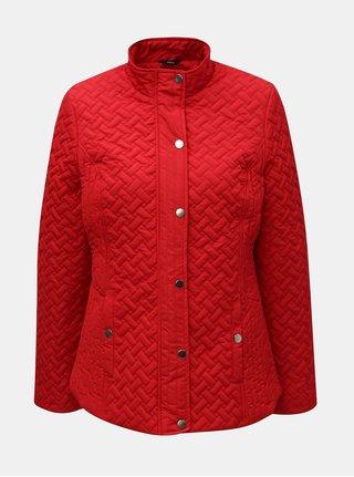 Červená lehká prošívaná bunda M&Co