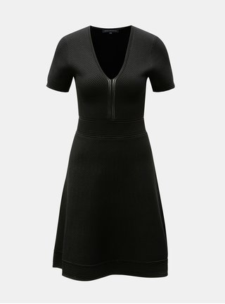 Rochie neagra cu decolteu in V French Connection