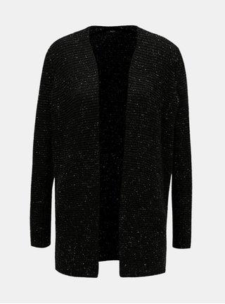 Černý žíhaný kardigan s kapsami M&Co