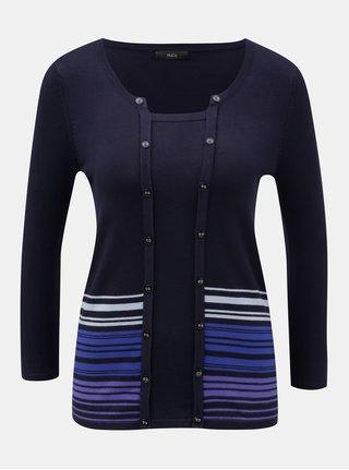 Tmavě modrý lehký svetr M&Co
