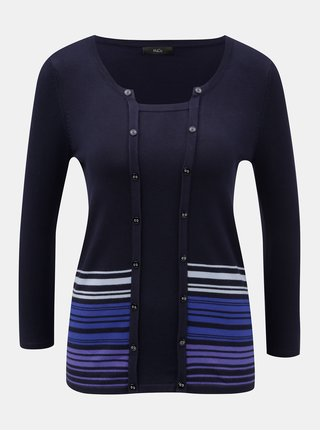 Tmavomodrý tenký sveter M&Co