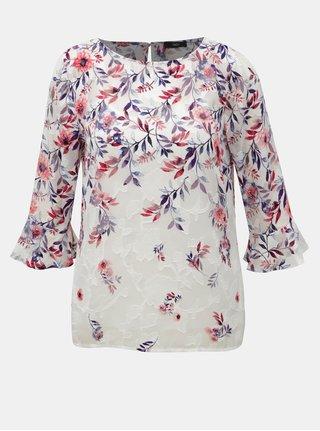 Ružovo–biela kvetovaná blúzka s 3/4 rukávom M&Co