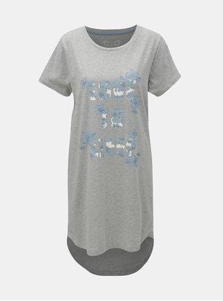 Světle šedá noční košile s potiskem M&Co