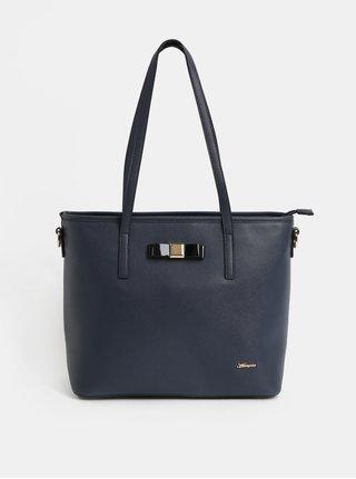 Tmavomodrá kabelka s detailmi v zlatej farbe Hampton