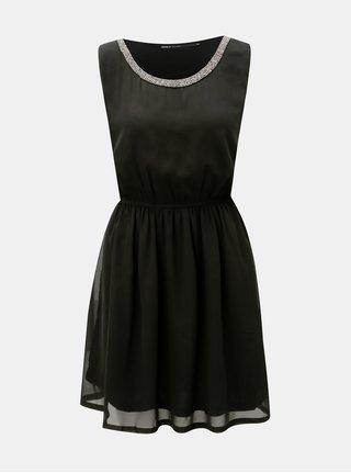 Čierne šaty s elastickým pásom ONLY Thea