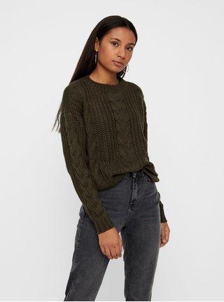 Khaki volný svetr VERO MODA
