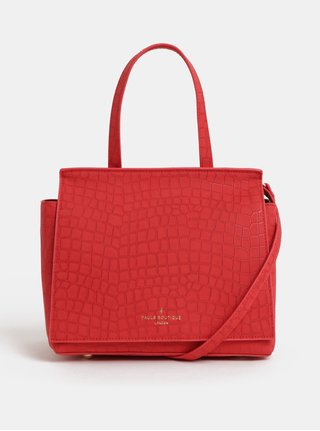 Červená kabelka s krokodýlím vzorem Paul's Boutique Kaila