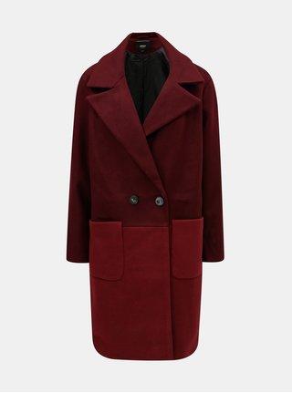 Vínový kabát s kapsami ONLY Christra