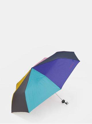 Růžovo-fialový skládací deštník Esprit Mini Alu