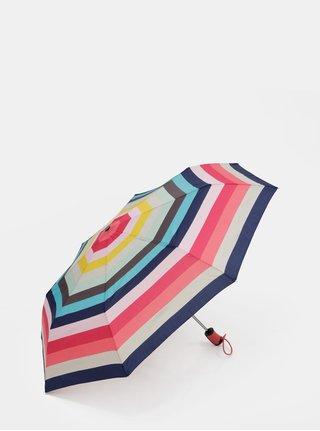Modro-růžový pruhovaný vystřelovací deštník Esprit Candystripe