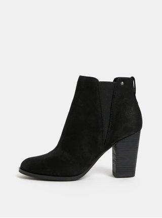 Čierne dámske kožené chelsea topánky ALDO