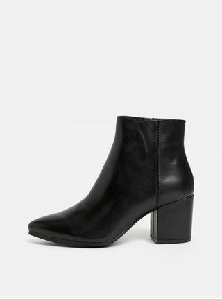 Čierne dámske kožené členkové topánky ALDO Fralissi