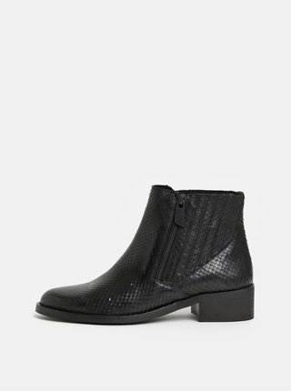 Černé dámské kožené chelsea boty ALDO Lovigocia