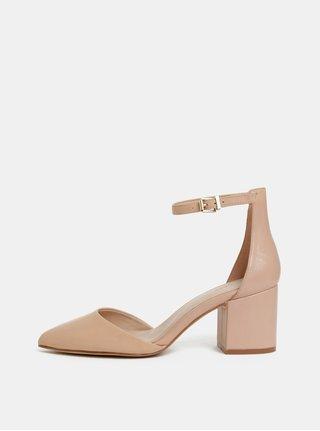 Pantofi bej din piele ALDO Keclya