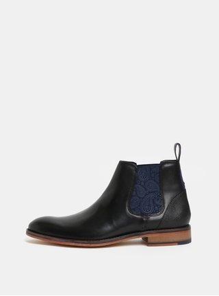 Černé pánské kožené chelsea boty Ted Baker Camroon
