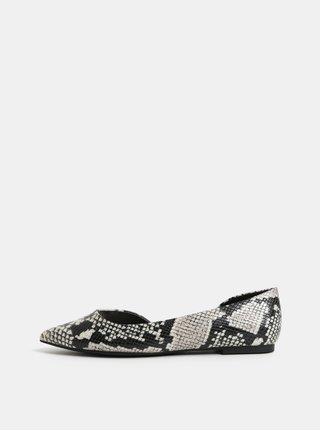 Krémovo-černé vzorované baleríny ALDO Gloacia