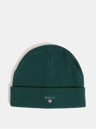 Tmavě zelená unisex čepice s vyšitým vzorem GANT Logo Hat