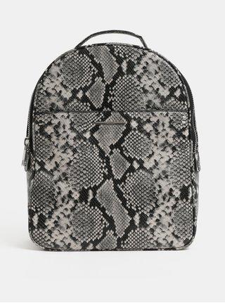 Krémovo-černý batoh s hadím vzorem ALDO