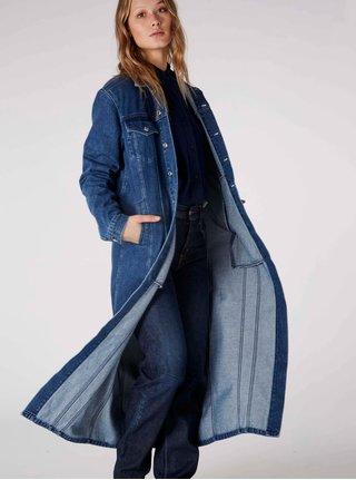 Modrý dámský džínový kabát Kings of Indigo Till Long