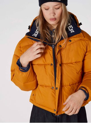 Oranžová prešívaná nadýchaná bunda Kings of Indigo