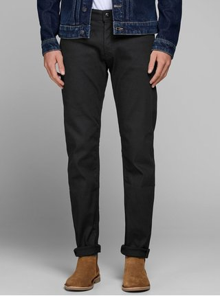 Blugi negri regular fit Jack & Jones Mike