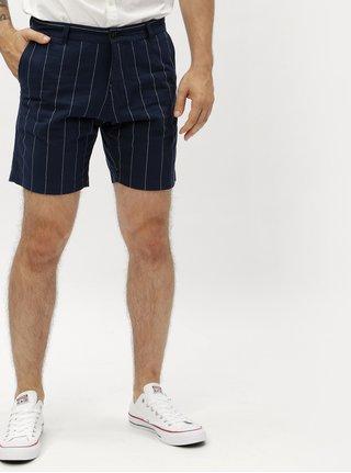 Pantaloni scurti albastru inchis in dungi Lindbergh