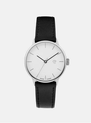 Ceas negru pentru femei CHPO Khorshid Mini Silver