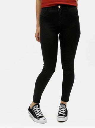 Černé skinny džíny s detaily ve zlaté barvě Dorothy Perkins Petite