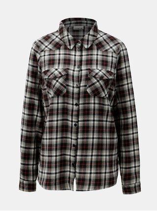 Béžovo-černá flanelová košile Noisy May