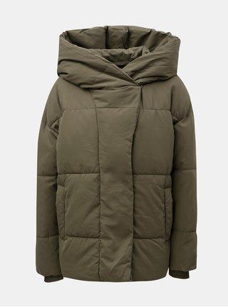 Zelené prešívaná bunda s kapucňou Noisy May