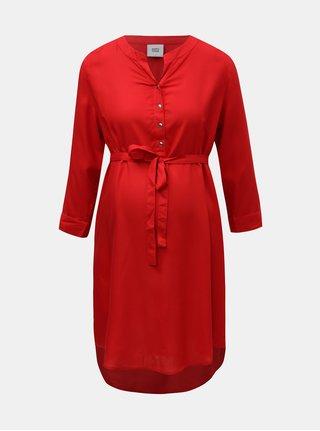 Červená dlhšia tehotenská blúzka Mama.licious Mercy